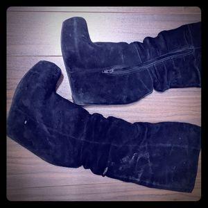 Aldo Suede Wedge Boots